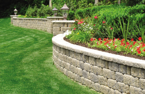 retaining wall options landscape omaha landscaping company arbor