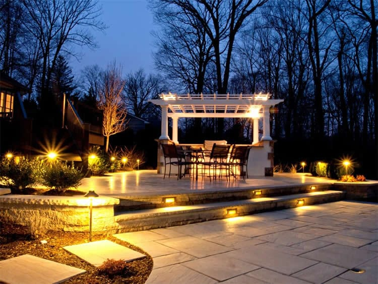 Landscape lighting design arbor hills omaha landscaping company we offer design consultation wire run sizing and a complete line of kichler lighting products to choose from up lights pathway lights and control boxes mozeypictures Choice Image
