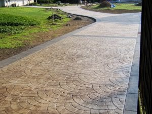 stamped & Colored Concrete landscaping Omaha