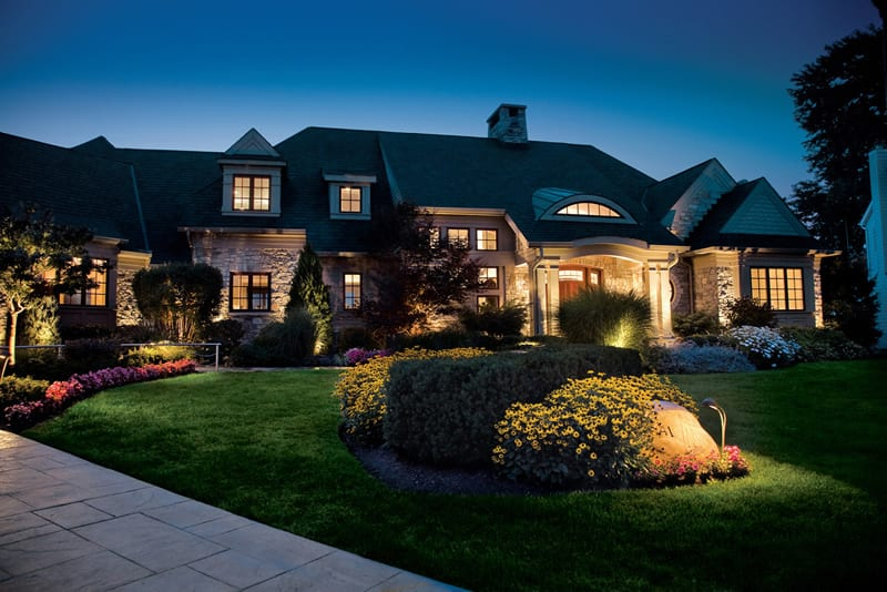 front yard Landscape design Lighting design